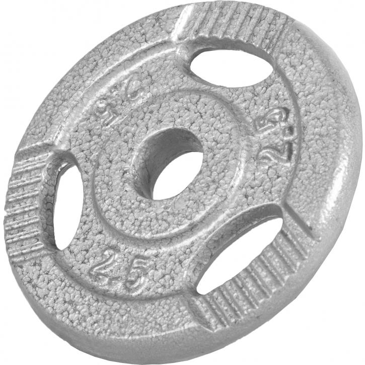 Gorilla-Sports-Disques-en-fonte-avec-poignees-31-mm-Gris-De-0-5-KG-a-20 miniature 3