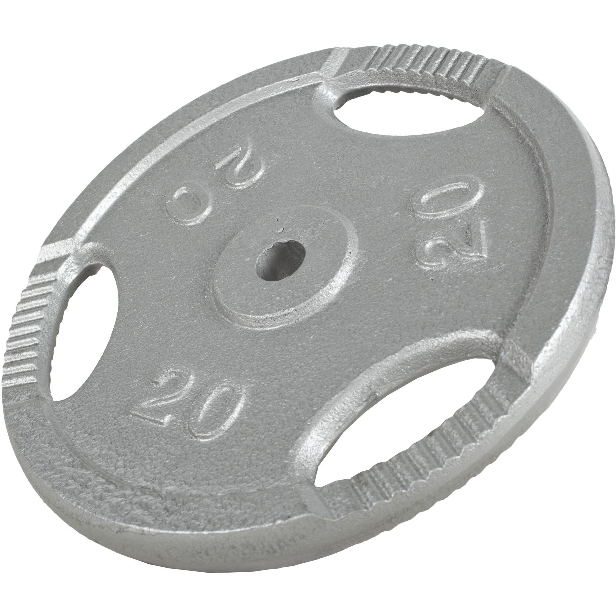 Gorilla-Sports-Disques-en-fonte-avec-poignees-31-mm-Gris-De-0-5-KG-a-20 miniature 5