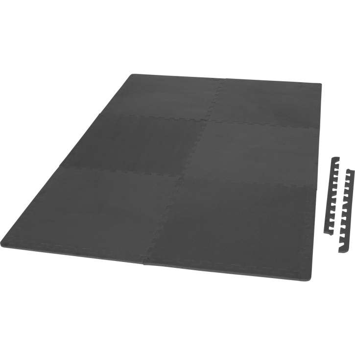 tapis puzzle de protection avec bordures interconnectables de 1 2cm d 39 paisseur en mousse eva 18. Black Bedroom Furniture Sets. Home Design Ideas