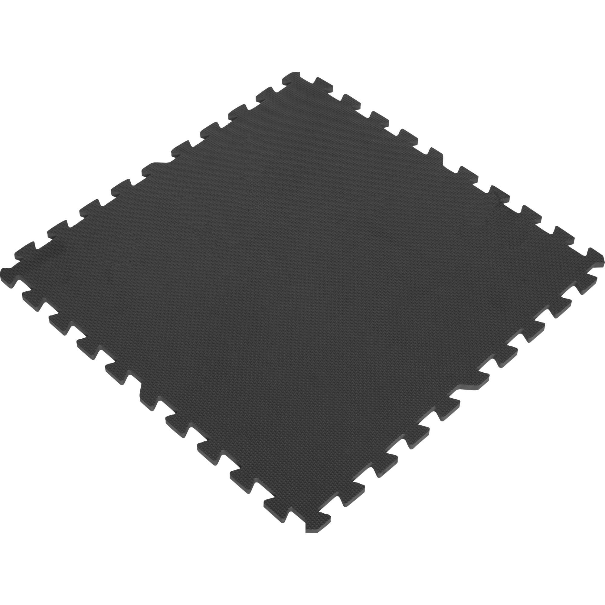 tapis de protection interconnectables de 1 2cm en mousse eva 8 carr noir 10000616. Black Bedroom Furniture Sets. Home Design Ideas