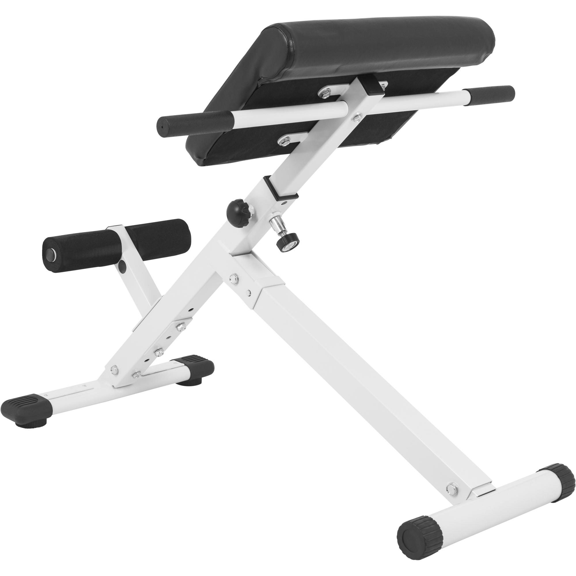 gorilla sports appareil de musculation pliable pour le dos noir ou blanc ebay. Black Bedroom Furniture Sets. Home Design Ideas