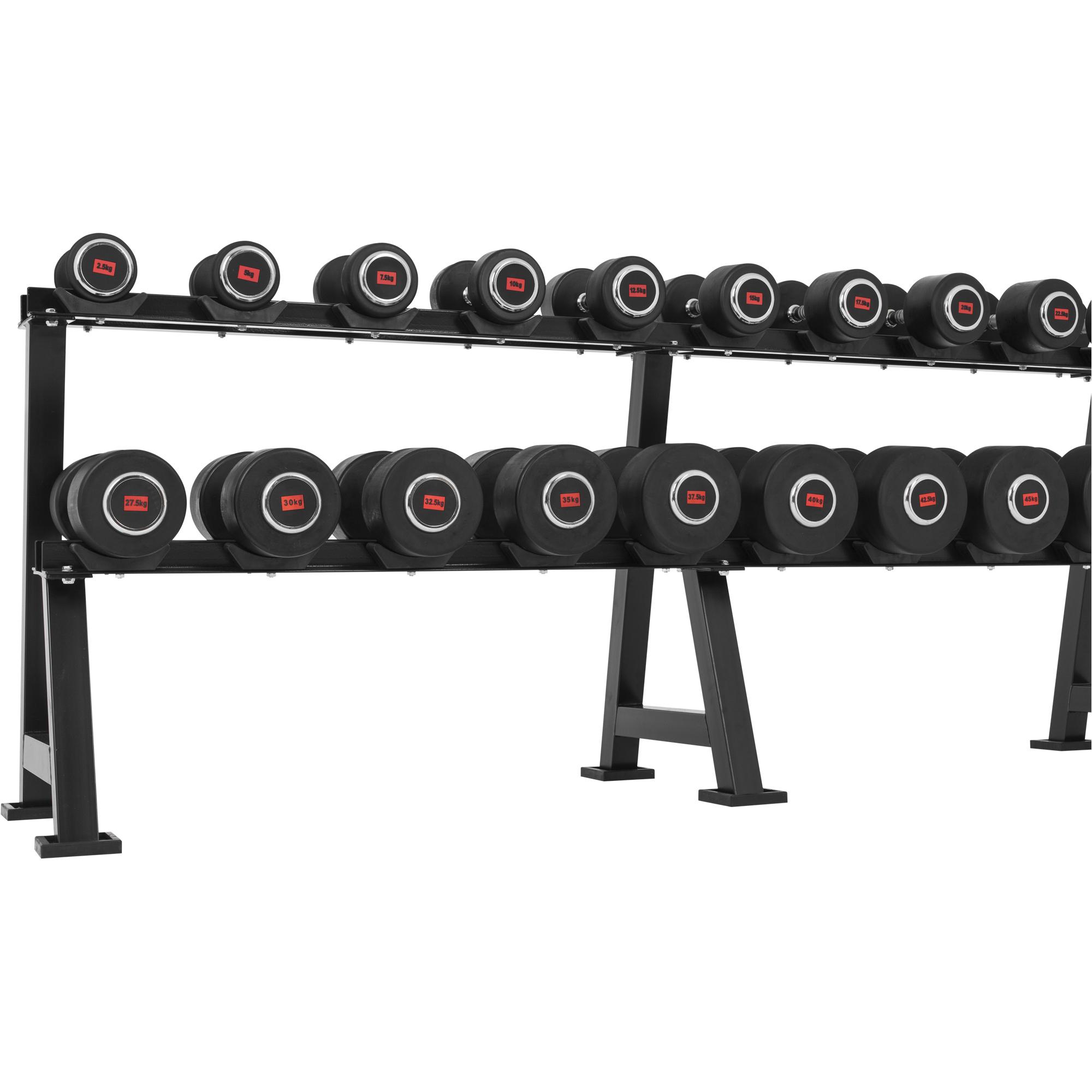 Gorilla-Sports-Halteres-professionnels-en-caoutchouc-monobloc-disponible-de-2 miniature 30