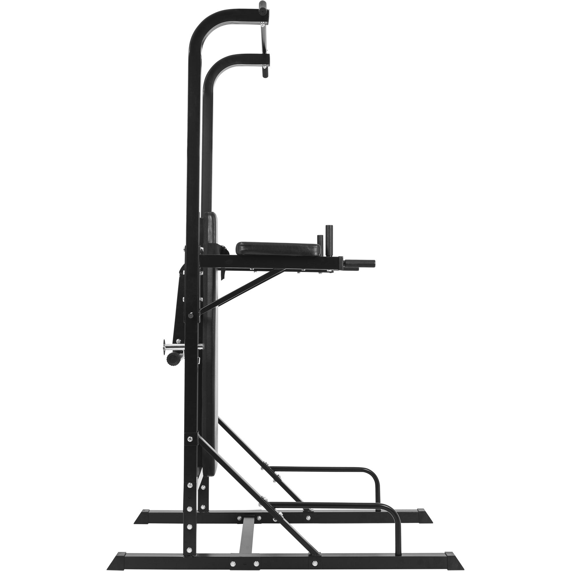 Station d entrainement multifonctions barre de traction dips banc musculation 10000797 - Banc musculation go sport ...