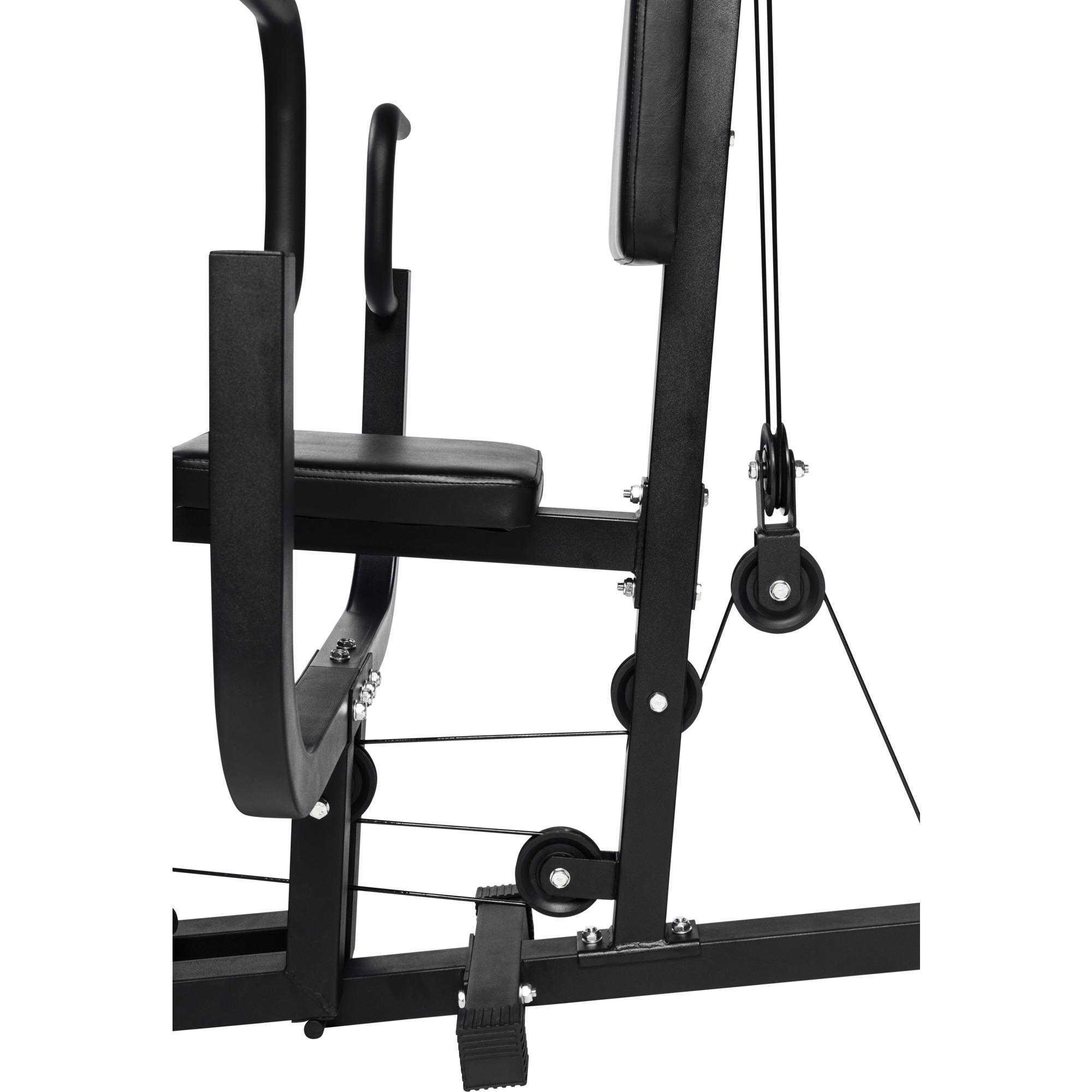home gym multifonction noir gorilla sports appareil de musculation copmplet avec syst me de. Black Bedroom Furniture Sets. Home Design Ideas