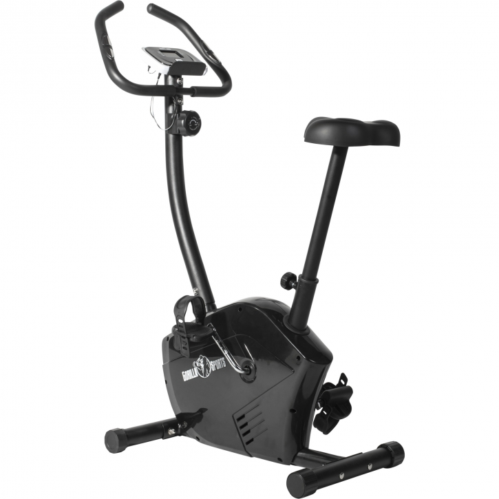 V lo d 39 appartement exercice cycle cardio r glable noir gorilla sports ebay - Entrainement velo d appartement ...