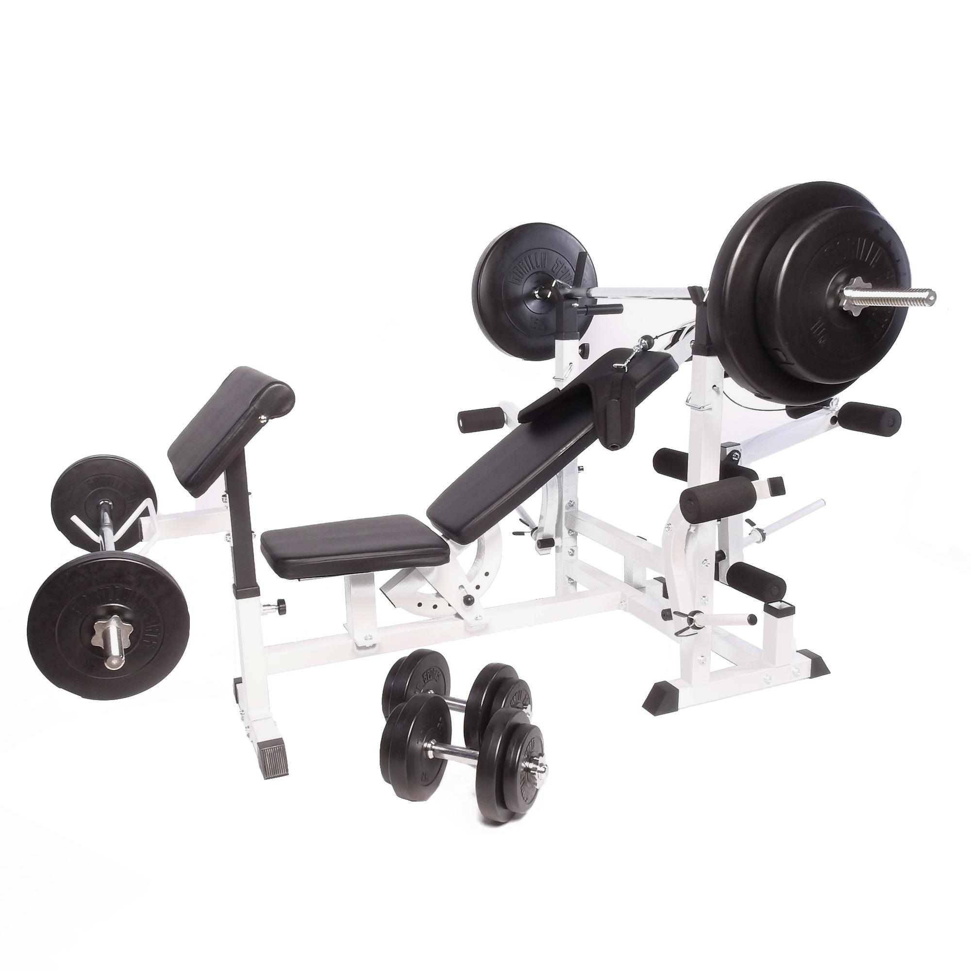 Banc De Musculation Universel Gs005 Set Haltères Disques