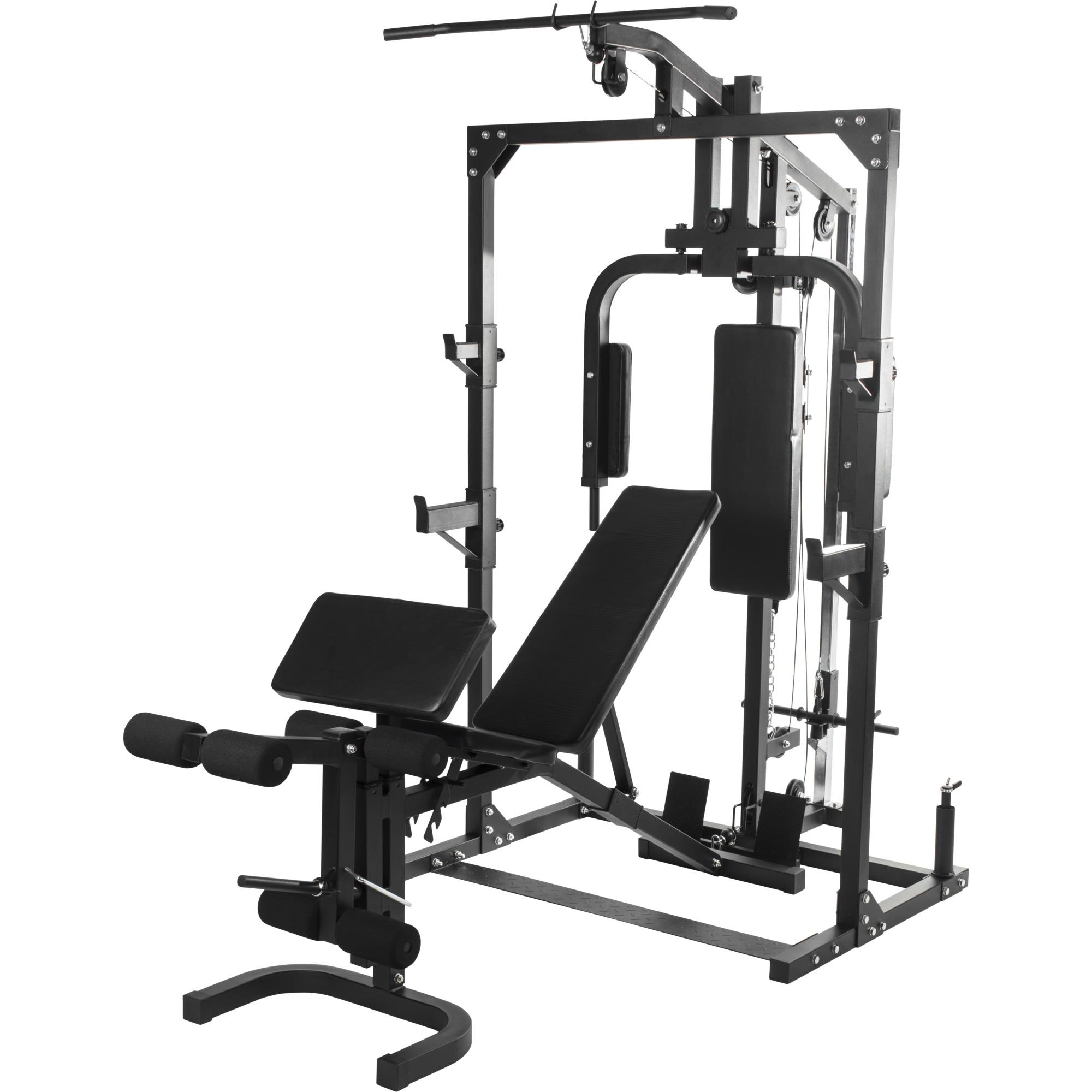JIAJULL Halt/ère Banc Home Gym /Équipement for Hommes Multi-Fonction Fitness Banc Banc entra/înement r/églable Banc de Musculation avec Extension Jambe Leg Curl Noir