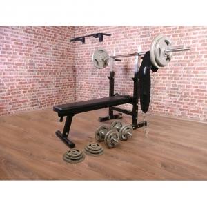 Vente de kit d halt res complete avec banc de musculation - Banc de musculation avec barre de traction ...